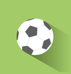 Soccer ball icon with shadow on green background vector