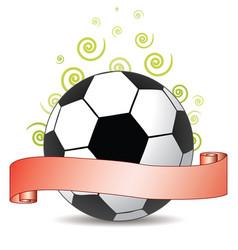 soccer ribbon vector image