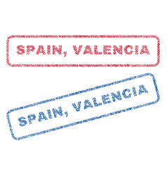 spain valencia textile stamps vector image