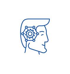Strategic thinking head line icon concept vector