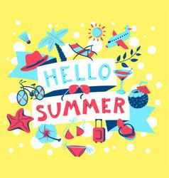 summer banner beach season background with summer vector image