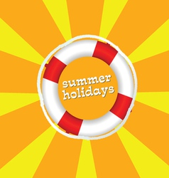 summer holidays color vector image