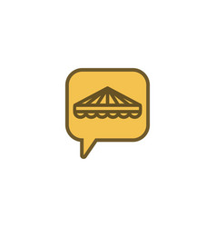 Tent and chat logo design inspiration isolated on vector