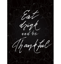 Thanksgiving lettering calligraphy vector image