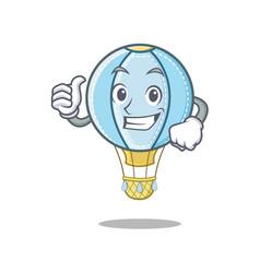 Thumbs up air balloon character cartoon vector