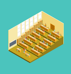 university auditorium interior with people vector image