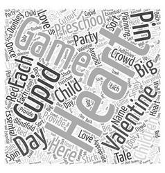 Valentines day games preschoolers Word Cloud vector