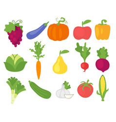 vegetables in simple minimalism style vector image