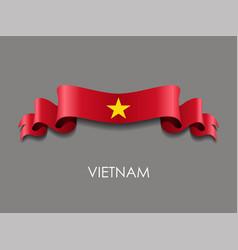 Vietnamese flag wavy ribbon background vector