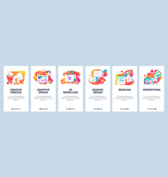 Web site onboarding screens gradient vector