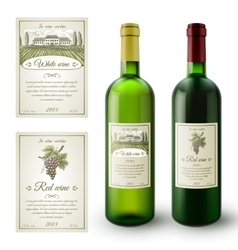 Wine Labels Set vector