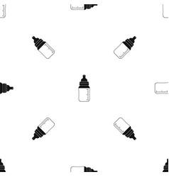 baby milk bottle pattern seamless black vector image vector image