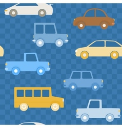 Colorful cars seamless pattern vector image vector image