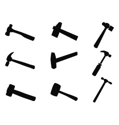 hammer silhouettes set vector image vector image