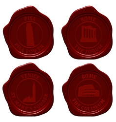 italy sealing wax set vector image