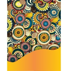 Unique Abstract Ethnic Pattern Card vector image vector image