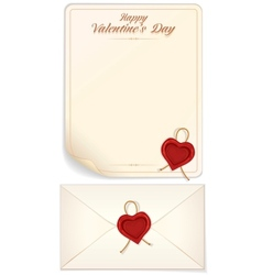 Valentine Day Love Letter Print Template vector image vector image