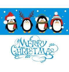 Christmas Penguin Set vector image vector image