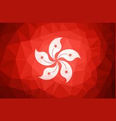 hong kong flag abstract polygon background vector image