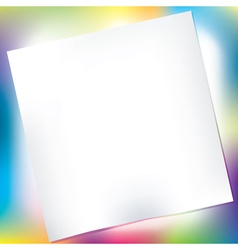 notepad over colorful background vector image vector image