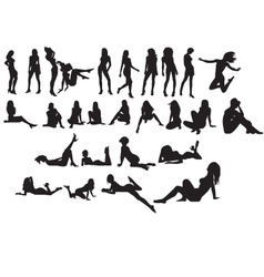 nude silhouette vector image