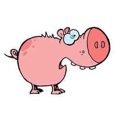 Pig With An Open Mouth vector image vector image