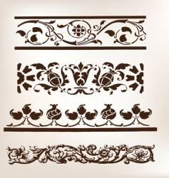 set of vintage design boarders vector image