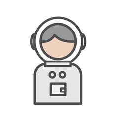 spaceman avatar icon on white background vector image