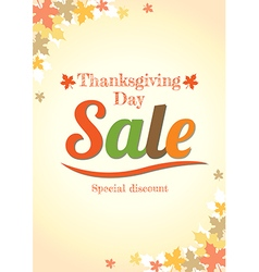 Thanksgiving day sale poster vector image vector image