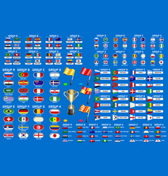 world cup championship groups schedule vector image vector image