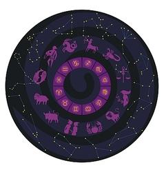 Zodiac Wheel vector image vector image