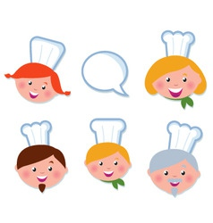 cute cooking and icons set vector image vector image