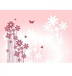 flower back pink vector image vector image