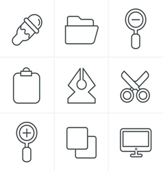 Line Icons Style Graphic design icons vector image