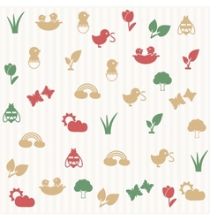 Spring seamless pattern vector image vector image