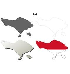 Bali blank outline map set vector image vector image