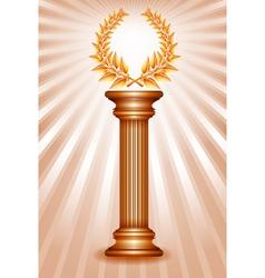 Column laurel bronze vector image vector image