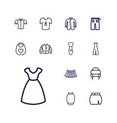 13 apparel icons vector
