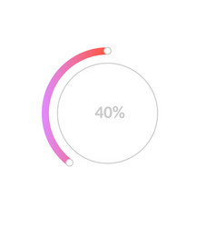 40 percent business pie chart infographic for vector image