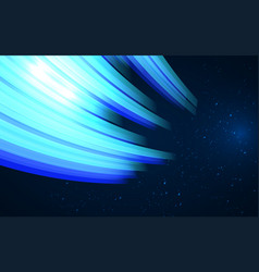 abstract design - blue glowing wave fantasy vector image