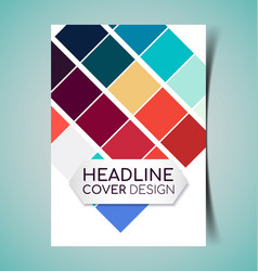 abstract report cover9 vector image