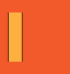 abstract yellow line overlap on orange modern vector image