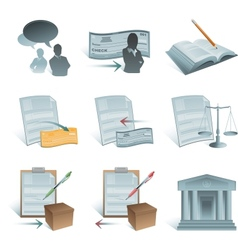 accounting icons vector image