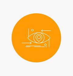 Advanced future gen science technology eye white vector