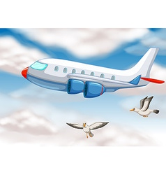 An airplane vector image