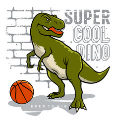 Athletic dino 006 vector