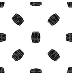 barrel pattern seamless black vector image