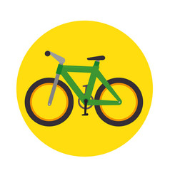 bicycle transport icon graphic vector image