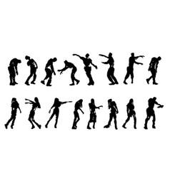 bitten zombies set vector image