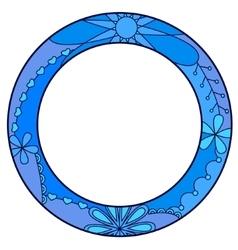 Blue circle symbol of diabetes day vector